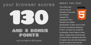 Teste de HTML 5 em navegadores