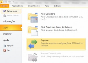 Configuração do Ms Outlook - Parte 1