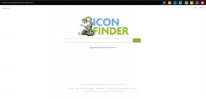 Tela de busca do IconFinder