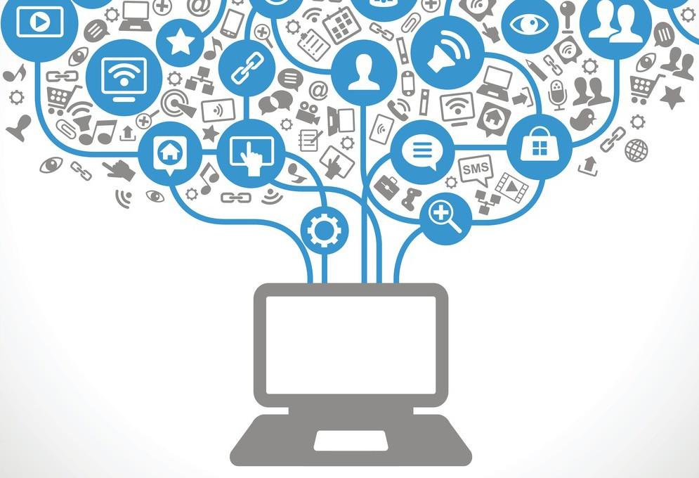 Muitos dados entrando em um computador
